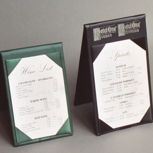 Menu Covers & Table Tents