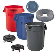 Trash Cans, Lids & Dollies
